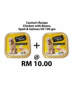 [Bundle] Canine's Recipe Chicken with Beans, Spelt & Salmon Oil 100 gm x 2