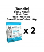 [Bundle]Back 2 Nature Grain Free Fresh Three Fish + Sweet Potato Cuisine 1.8kg x 2