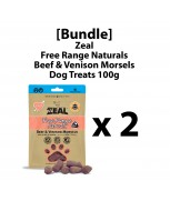 [Bundle] Zeal Free Range Naturals Beef & Venison Morsels (Freeze Dried) 100g x 2