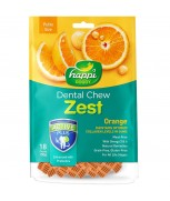 Happi Doggy Dental Chew Zest Orange 150g (18 Pieces) - Petite