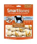 SmartBones Sweet Potato Classic Bone Chews - 6 Small (311g)