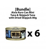 [Bundle] Aixia Kuro-can Mini Tuna and Skipjack Tuna with Dried Skipjack 80g x 6