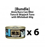 [Bundle] Aixia Kuro-can Mini Tuna and Skipjack Tuna with Whitebait 80g x 6