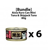[Bundle] Aixia Kuro-can Mini Tuna and Skipjack Tuna 80g x 6