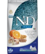 Farmina Natural & Delicious N&D Ocean Ancestral Grain Codfish Orange Adult Mini 2.5kg