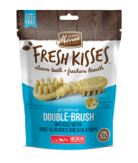 Merrick Fresh Kisses All Natural Double Brush Mint Breath Strips (Medium) 6's - 170g