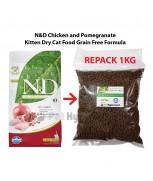 [REPACK] Farmina Natural & Delicious Chicken & Pomegranate Kitten Dry Cat Food Grain Free Formula 1kg