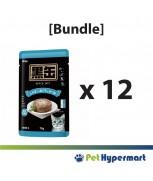 [Bundle] Aixia Kuro-Can Pouch Tuna & Skipjack Tuna With Whitebait Cat Food 70g x 12
