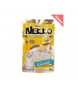 Nekko Pouch Cat Food Tuna Topping Salmon In Gravy 70g