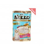 Nekko Pouch Cat Food Tuna Topping Tuna In Gravy 70g
