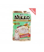 Nekko Pouch Cat Food Tuna Topping Chicken In Gravy 70g