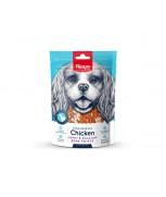 Wanpy Oven-Roasted Chicken Jerky & Calcium Bone Twists Dog Treats 100g