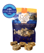Alps Natural Cod Supreme Cod Rolls Dog Treats 100gm