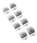Andis Chrome Combs Universal Comb Set 8 Pieces