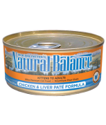 Natural Balance Chicken & Liver Paté Canned Cat Formula 5.5 oz