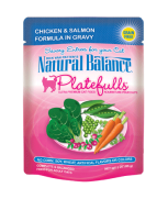 Natural Balance Platefulls® Chicken & Salmon Formula in Gravy Cat Pouch Grain Free 3 oz