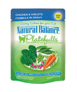 Natural Balance Platefulls® Chicken & Giblets Formula in Gravy Cat Pouch Grain Free 3 oz
