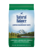 Natural Balance L.I.D. Limited Ingredient Diets® Lamb Meal & Brown Rice Dry Dog Formula 14lbs