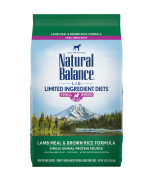 Natural Balance L.I.D. Lamb & Brown Rice Small Breed Bites® Dry Dog 4lbs (Improve Formula)