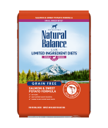Natural Balance L.I.D. Salmon & Sweet Potato Small Bite Dry Dog Formula 4lbs (Improved Formula)