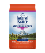 Natural Balance L.I.D. Limited Ingredient Diets® Sweet Potato & Fish Small Breed Bites® Dry Dog Formula 12lbs