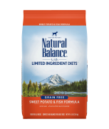 Natural Balance L.I.D. Limited Ingredient Diets® Sweet Potato & Fish Dry Dog Formula 13lbs