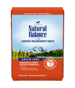 Natural Balance L.I.D. Salmon & Sweet Potato Dry Dog Formula 24lbs (Improved Formula)