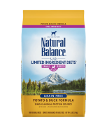 Natural Balance L.I.D. Limited Ingredient Diets® Potato & Duck Small Breed Bites® Dry Dog Formula 4.5lbs