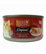 Cindy's Recipe Original Tender Chicken with Salmon Canned Cat Formula 80gm