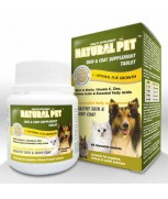 Natural Pet Skin & Coat Supplement Tablet (60 chewables)