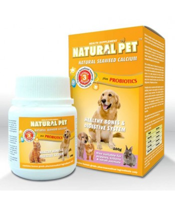 Natural Pet Natural Seaweed Calcium Plus Probiotics (100g powder)