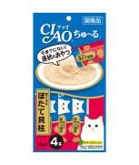 Ciao Chu-ru Whitemeat Tuna & Scallop 14gm x 4