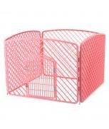 Pet Playpen (Fence) 100cm x 100cm x 75cm H (Pink)