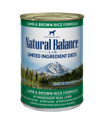 Natural Balance Lamb & Brown Rice Canned Dog Formula 369 gram 13 oz